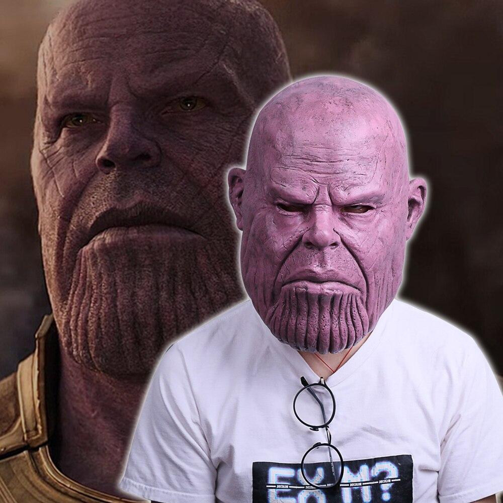 New 2018 Avengers Infinity War Thanos Mask Cosplay Thanos Helmet Superhero Mask Halloween Party thanos