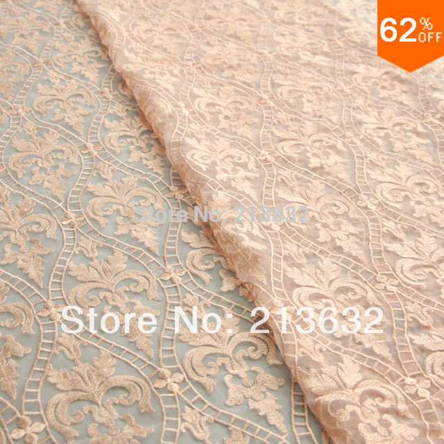 D po58 Organza high-grade embroidered cloth of polyester silk fabrics  embroidery fabric factory embroidery lace tulle jewelry