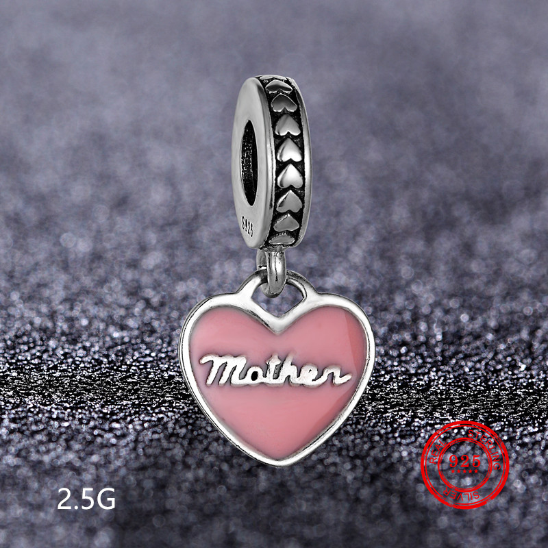 925 sterling silver bead flower pendant for Pandora bracelet necklace female jewelry DIY production