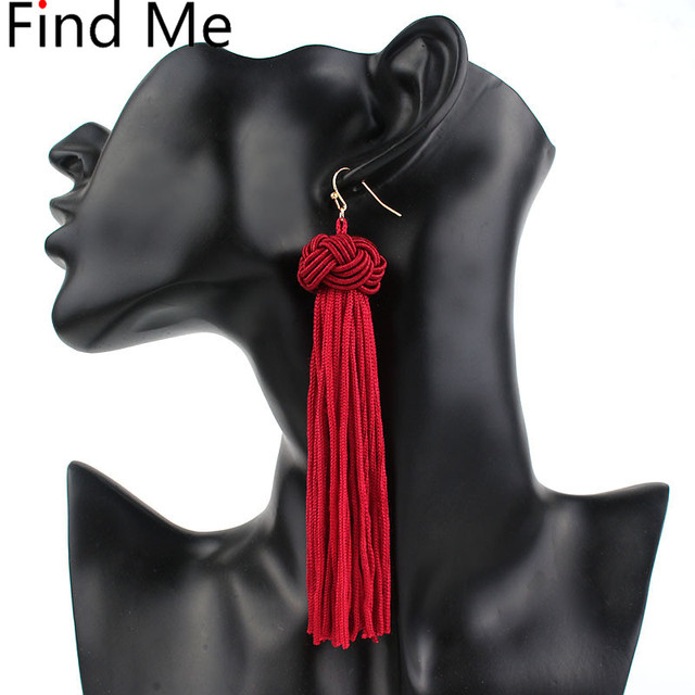 Find Me 2019 new brand fashion wholesale feather beads Drop earrings Vintage lon