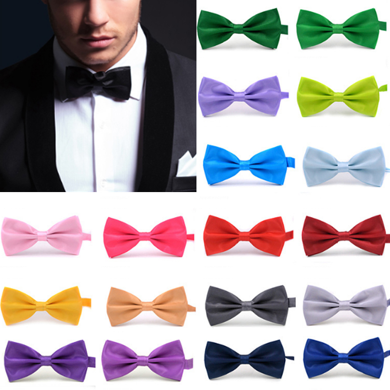Fashion Sale 1PC Gentleman Men Classic Satin Bowtie Necktie For Wedding Party Adjustable Bow Tie Knot Clothing & Accessories