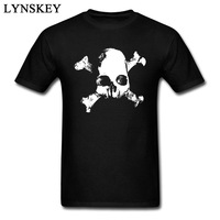 Short Sleeve X Bones Pirate Symbol Skull Man S Black White Tshirt Cotton Tops Tees Custom