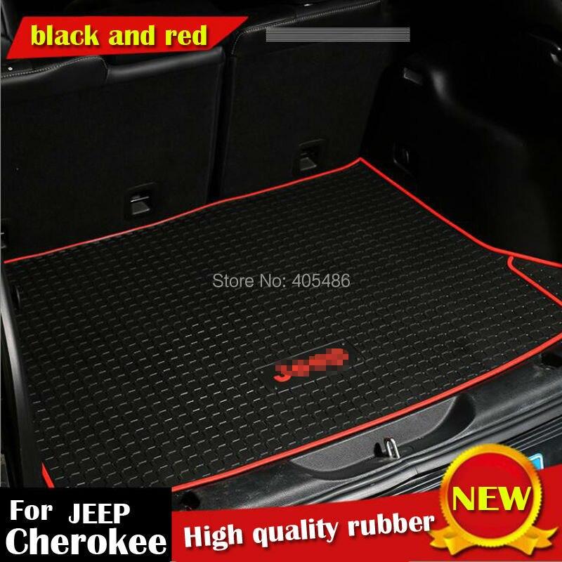 DHL zone de chargement coffre organisateur porte tapis de sol tapis étanche à l'huile en caoutchouc tapis antidérapant imperméable pour Jeep Cherokee 2014 Up