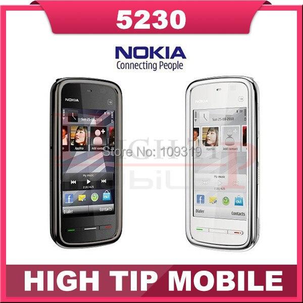 Original NOKIA 5230 phone Unlocked Quad band 2 0MP camera GPS phone 3 2 Screen FM