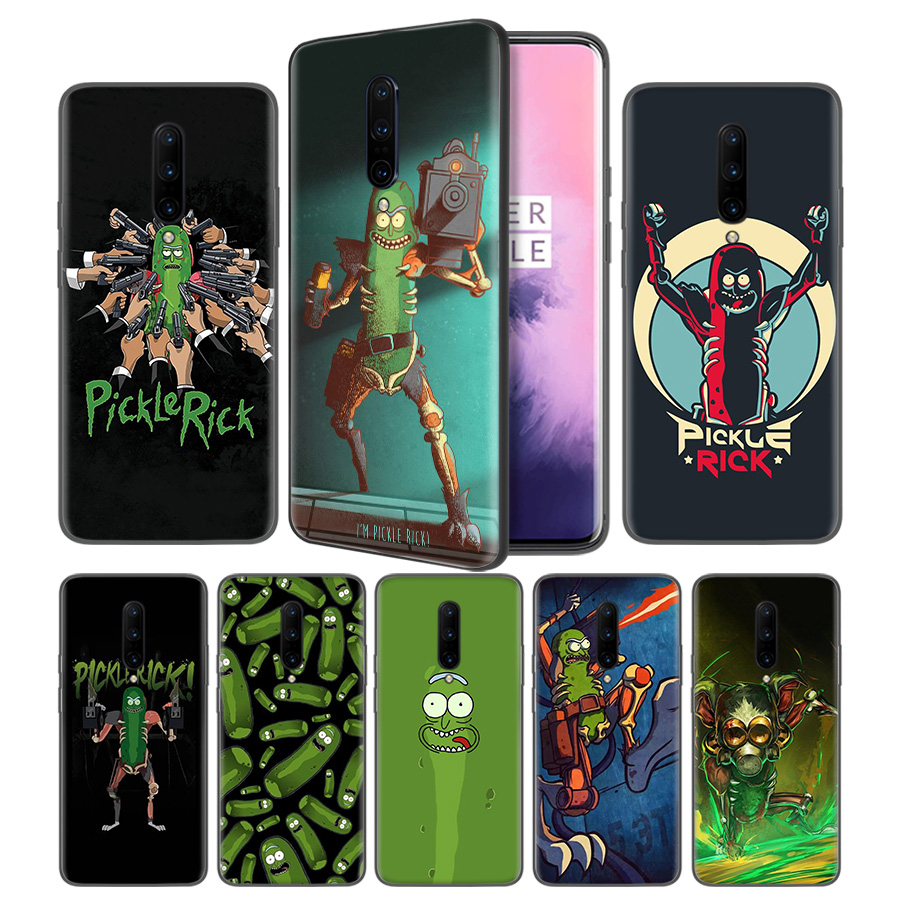 Rick and Morty Pickle Rick Soft Black Silicone Case Cover for font b OnePlus b font