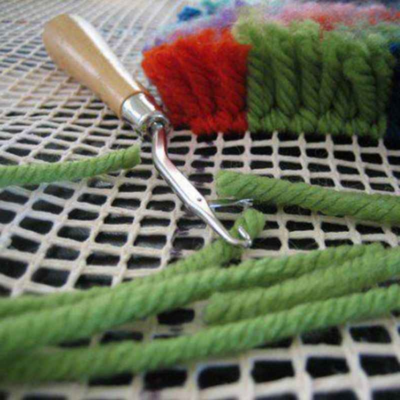 Mesh Canvas Latch Hook Rug Making