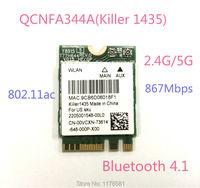 Atheros QCNFA344A Killer 1435 802.11ac Bluetooth 4.1 867Mbps BCM94350ZAE M2 NGFF WiFi Wireless Card better than BCM94352Z