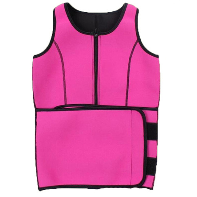 2fe7be1c2431b Rose Red Zipper Waist Trainer Neoparene Body Shaper Slimming Corset Vest  Top Women Shapewear Fajas Modeladoras
