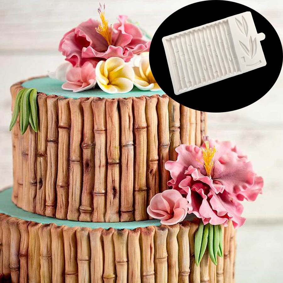 1pc Bamboo Silicone mold fondant mold cake decorating tools chocolate gumpaste mold M200