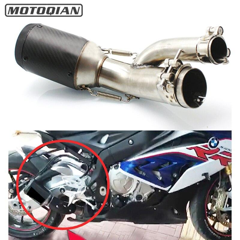 Per BMW S1000RR S1000R S1000XR 2017 2018 Moto 51mm tubo di Scarico Centrale di Collegamento Tubo di Fuga Sistema di Collegamento Connettore