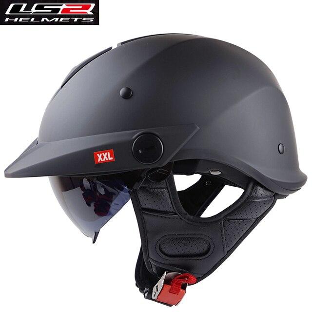 Original LS2 of590 vintage Motorcycle Helmets with sunshield MEN open face  harley retro helmets half face vespa helmet DOT-in Helmets from Automobiles  ...