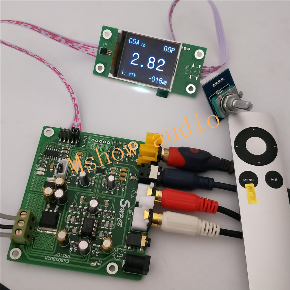 NEW ES9038 ES9038Q2M DAC Decoder board Support IIS DSD 384KHz Coaxial Optical DOP For hifi amplifier audio With TFT display musiland 01us mark2 usb hifi external sound card hardware decoding dsd support 32bit 384khz