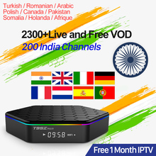 IPTV India IPTV Italia Free 1 Month IPTV T95ZPlus Android TV Box 2.4G+5G Wifi BT4.0 Pakistan Portugal IP TV Arabic Turkey IP TV