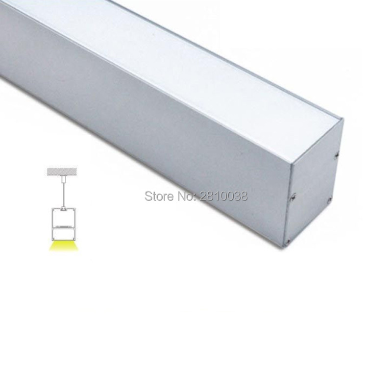 20 X 1 M Sets/Lot 50x70 U type aluminium led housing extrusions w/driver place and office lighting led alu profile for pendant ultimate hdc 1150b w silver alu