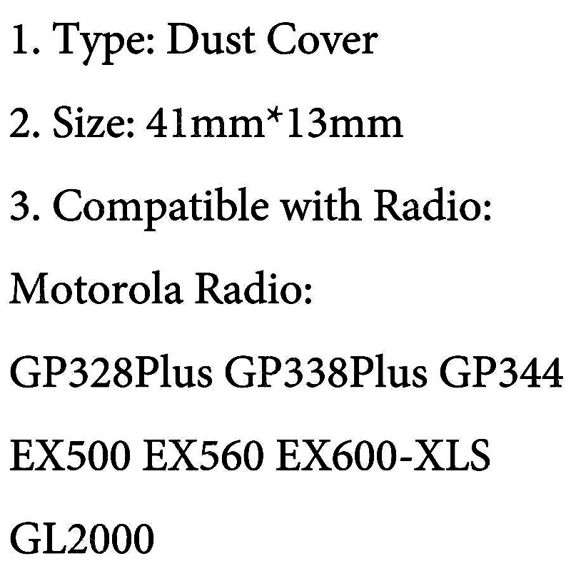 Black Dust Cover Accessory Headphone GP328Plus GP338Plus EX500 EX560 EX600-XLS GL2000 Walkie-Talkie 41*13mm