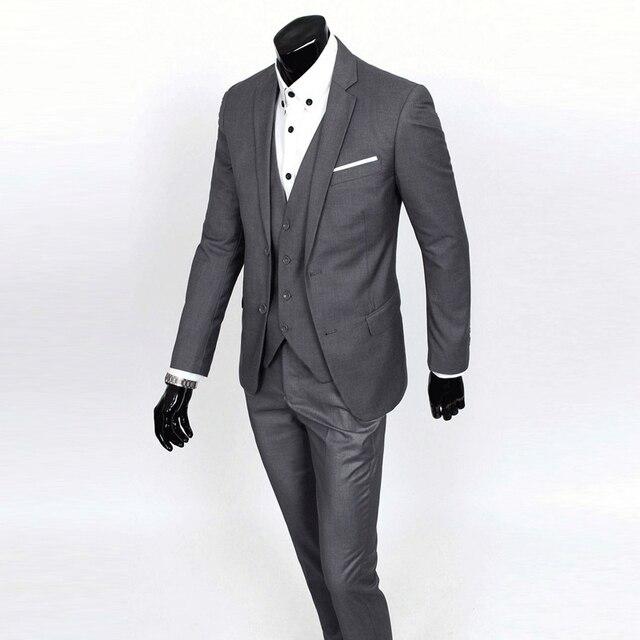 Con estilo Para Hombre Vestido de Boda Del Traje Esmoquin Novio Formal Cabidas Delgadas Chaqueta con Pantalones de Caballero 0019