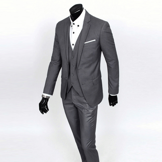 48d6e8016 Stylish Mens Suit Set Tuxedos Bridegroom Wedding Dress Formal Fitted Jacket  with Pants 019