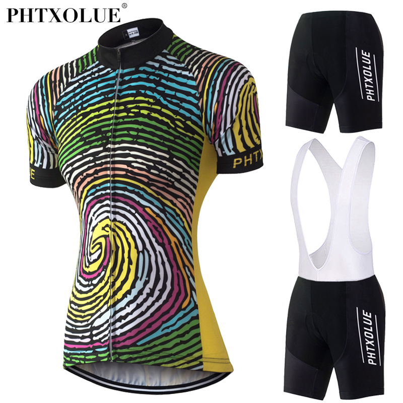 Phtxolue Team Women Cycling Clothing 2017 Breathable Black Yellow Bike Bicycle Wear Clothes Cycling Jersey Set Kit QY0329