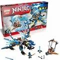 LEPIN 06027 Ninjagoes Jay Elemental de figuras de Dragón Building Block Set Cyren Miserable Mono Juguete Compatible con 70602