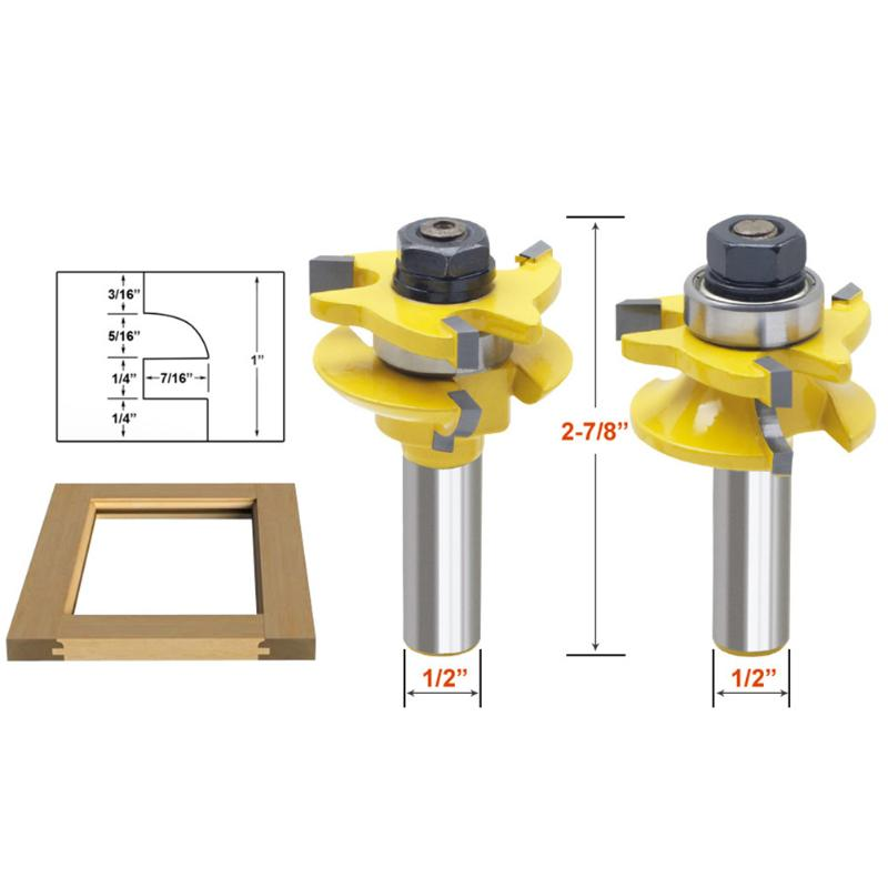 3pcs/lot 1/2 Shank Round Milling Cutter Cabinet Door Router Bit Wood Working Cutting Tool for Woodwork Cutter drilling tools