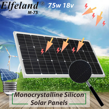 18V 100W Solar Panel Charger Monocrystalline Solar Cells Module Kit 12V Car Battery Charger With Waterproof Aluminum Alloy Frame