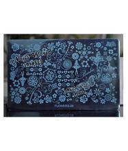 Serie de la manera placa de estampación de Uñas de Manicura de acero Sello de Imagen nueva plantilla grande Flor Stencil Mundo Flowers-09