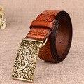 Пояс дамы чистого бычьего пояс Дворец античный ретро декоративные кожаный пояс женщин пояс