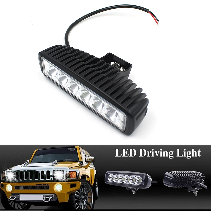 18W LED Flood Light Headlight Work Light Lamp off Road High Power ATV 4x4 Tractor off Road Light Fog Driving Bulbs For Jeep