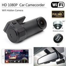 Автомобильный видеорегистратор Камера Mini Wi-Fi DVR видеорегистратор видеокамера Камера ночного видения Беспроводной автомобиля Мини Скрытая HD 1080 P тире Cam Камера