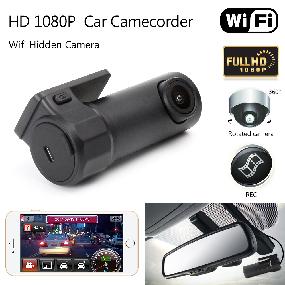 цена на Car DVR Camera Mini Wifi DVR Video Recorder Camcorder Camera Night Vision Wireless Car Mini Hidden HD 1080P Dash Cam Camera