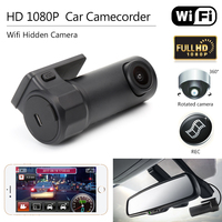DVR coche Mini Cámara Wifi Video Recorder DVR Videocámara de La Cámara Coche de Visión nocturna Inalámbrica Mini cámara Oculta HD 1080 P Dash Cam cámara
