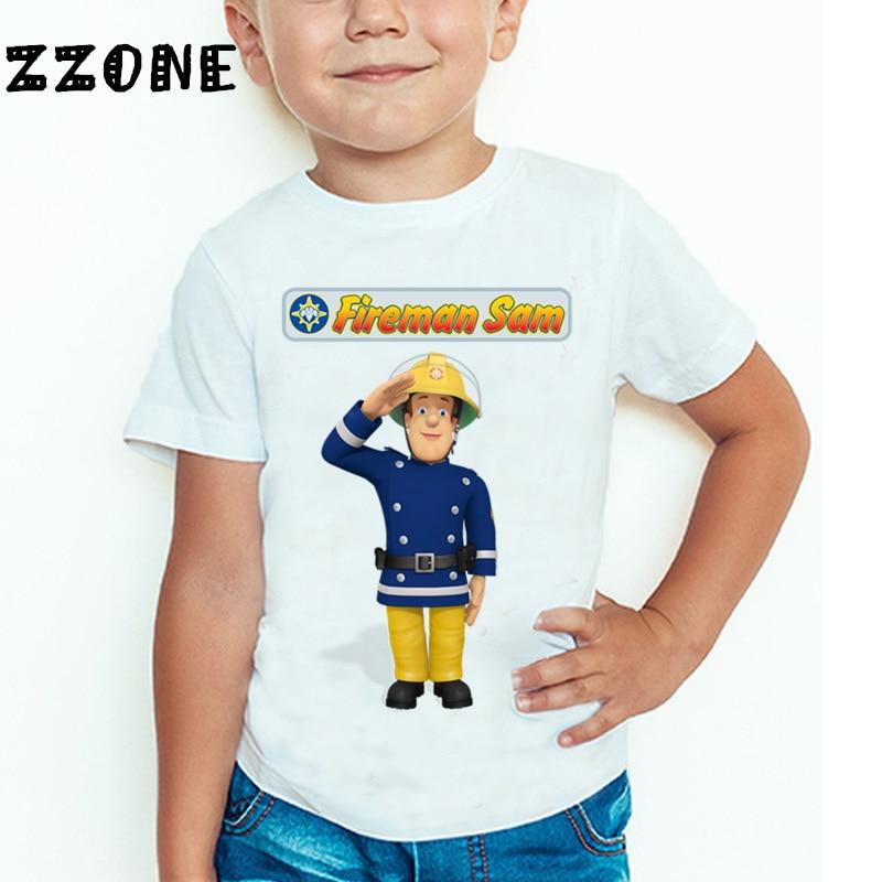 Παιδιά Cartoon Fireman Sam τυπωμένο αστείο T - Παιδικά ενδύματα - Φωτογραφία 5