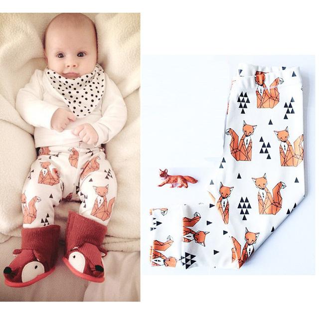 Ins série da Fox HOT baby girl baby boy harem pants