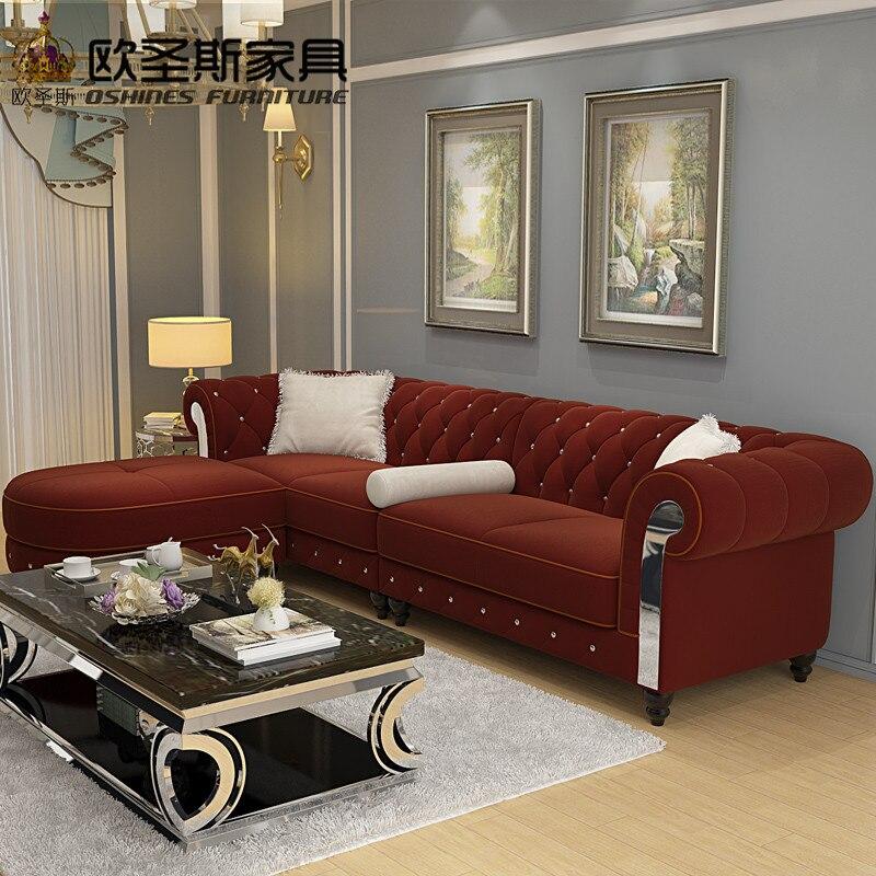 New Design Sofa Cloth Wine Red China Sofa 2019 Europe New ...