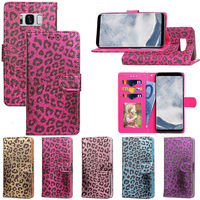 S8plus Sexy Women Leopard Print Wallet For Samsung Galaxy S8 Plus Case Covers Flip TPU Leather