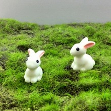 10pcs/pack Lovely Miniature Rabbit Resin Garden decor Bunny Ornament Flower Plant Pot Home Figurine Animal Decoration Supplies
