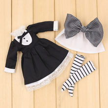 Outfits for Blyth doll Maid outfit with apron and socks suit for 1/6 doll ICY BJD NEO Wednesday Addams