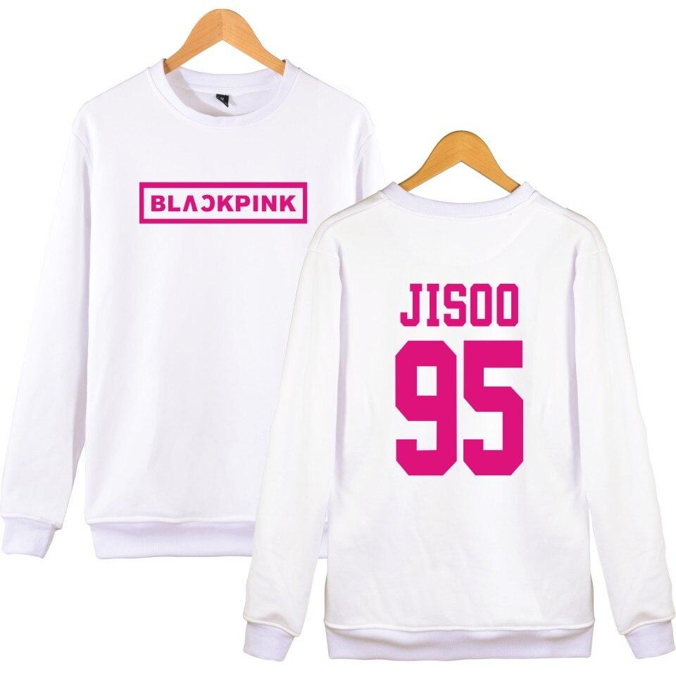 e37842b4 KPOP BLACKPINK Album Pullover Hoodies Women JENNIE ROSE LISA JISOO  Sweatshirt Hip Hop Black Pink Hoodie ...