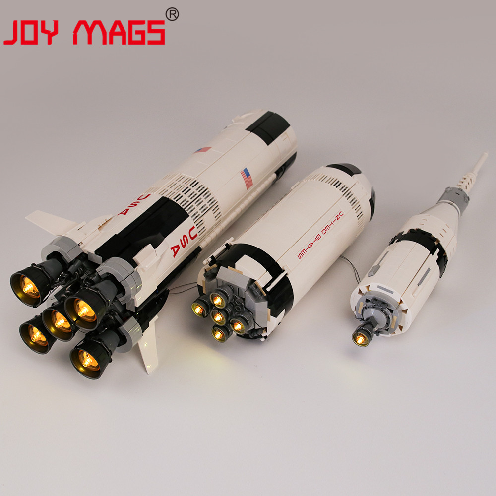 JOY MAGS Only Led Light Kit For The Apollo Saturn V Launch  Light Set Compatible With 21309 (NOT Include Model)