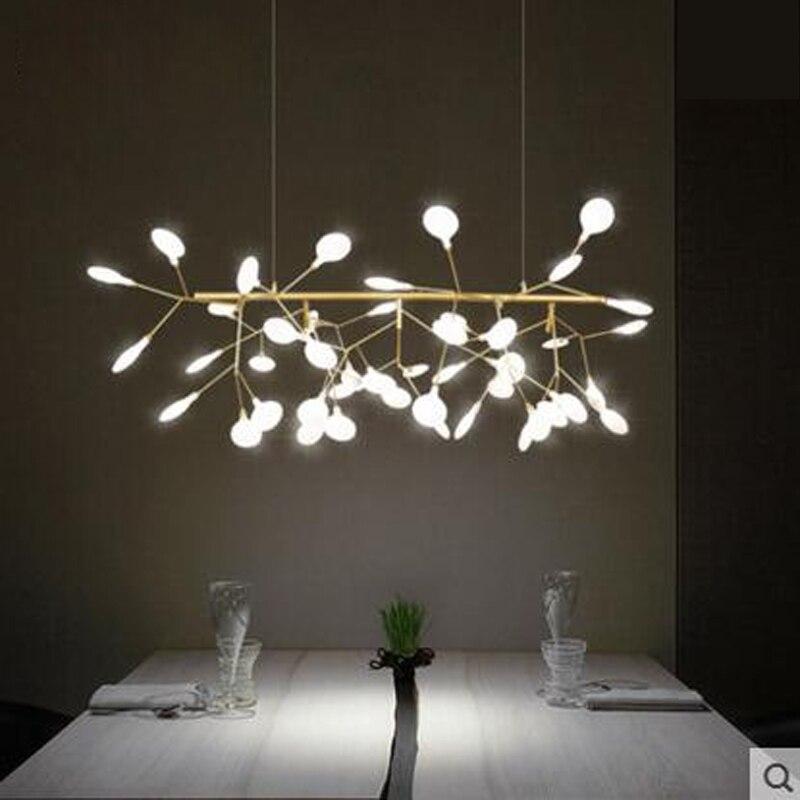 Post Modern Creative Living Room Restaurant Bar Art Nordic Firefly Tree Branch Chandelier Led Lighting
