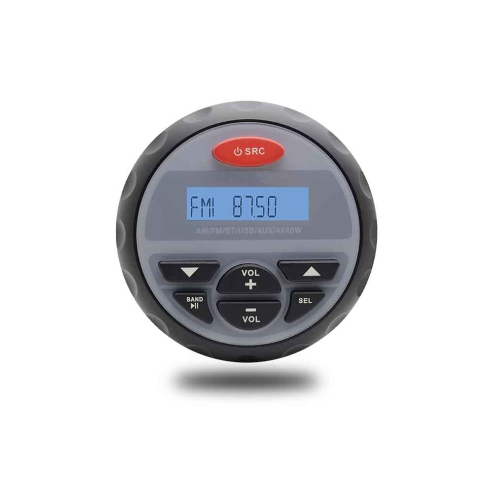 Marine Waterproof Bluetooth Stereo Radio Motorcycle Boat Audio USB MP3 Sound System ATV FM AM Receiver