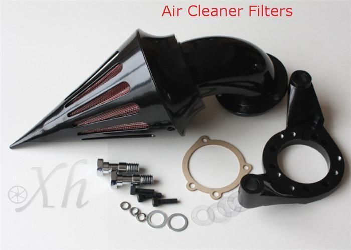 Motorcycle Black Spike Air Cleaner Kits Intake Filter For Harley CV Carb Delphi V-Twin M ...