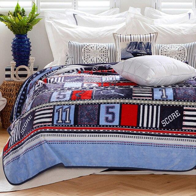 ESKIMO Thick Fleece Bed Blanket Warm Soft Cartoon Sofa Throw Blankets  Full Twin Queen King ed5e13044