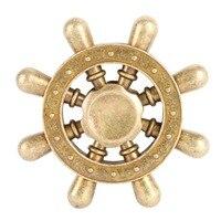 Rudder Design Fidget Spinner Hand Metal Mini Gyro Children Cool Popular Gift Mini Toys Finger Spinners