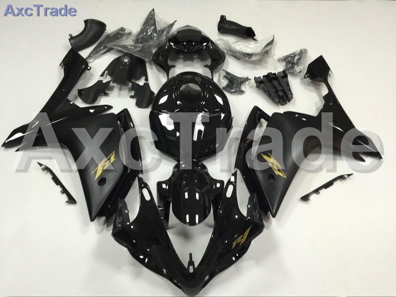 Motorcycle Fairings Kits For Yamaha YZF1000 YZF 1000 R1 YZF-R1 2007 2008 07 08 ABS Injection Fairing Bodywork Kit Black A843 hot sales for yamaha yzf r1 2007 2008 accessories yzf r1 07 08 yzf1000 black aftermarket sportbike fairing injection molding