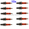 10 x 3 Electrode Motorcycle Spark Plug A7TJC A7TC High Performance Triple Electrode Replaces C7HA C7HSA