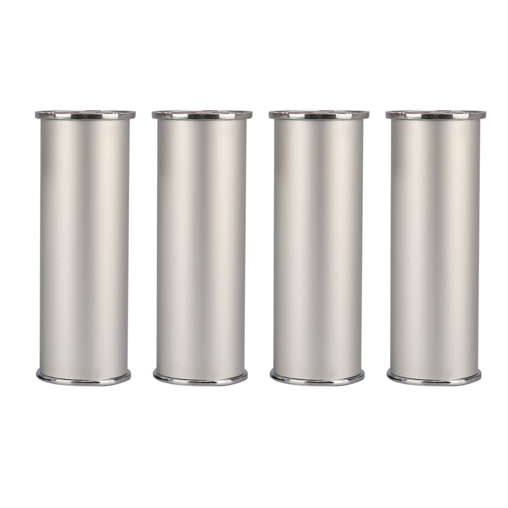 120x50MM Height Adjustable Furniture Legs Silver Aluminum Alloy Feet Cabinet Table Legs