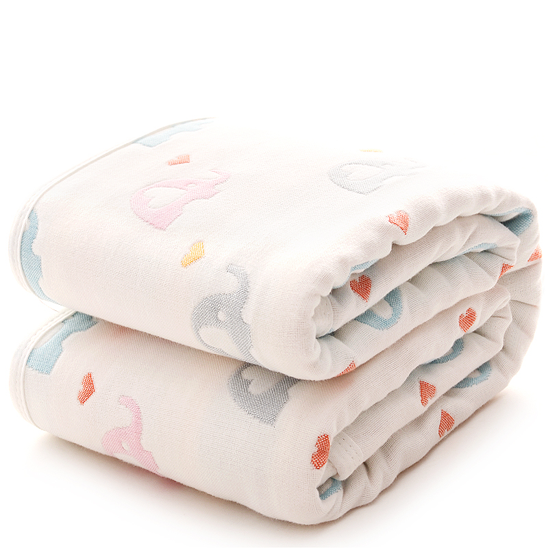 Cartoon Baby Blanket Cotton Summer Infant Bedding Quilt Six Layer Muslin Swaddle Newborns Wrap Towel 110*110cm Cama Infantil цена