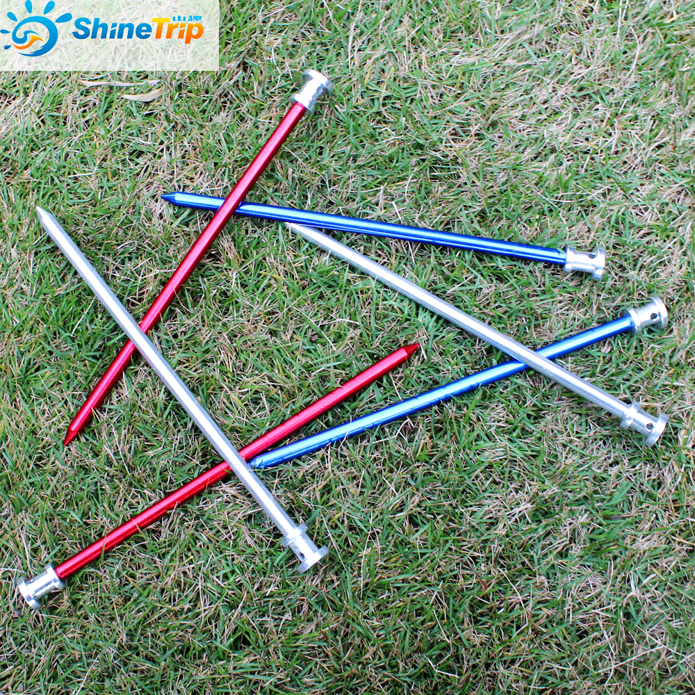 8Pcs Shinetrip 23cm Tent Peg Stake Aluminium Nails With Rope For Large Tent Stakes C&ing Equipment Outdoor Tent Accessories-in Tent Accessories from ...  sc 1 st  AliExpress.com & 8Pcs Shinetrip 23cm Tent Peg Stake Aluminium Nails With Rope For ...