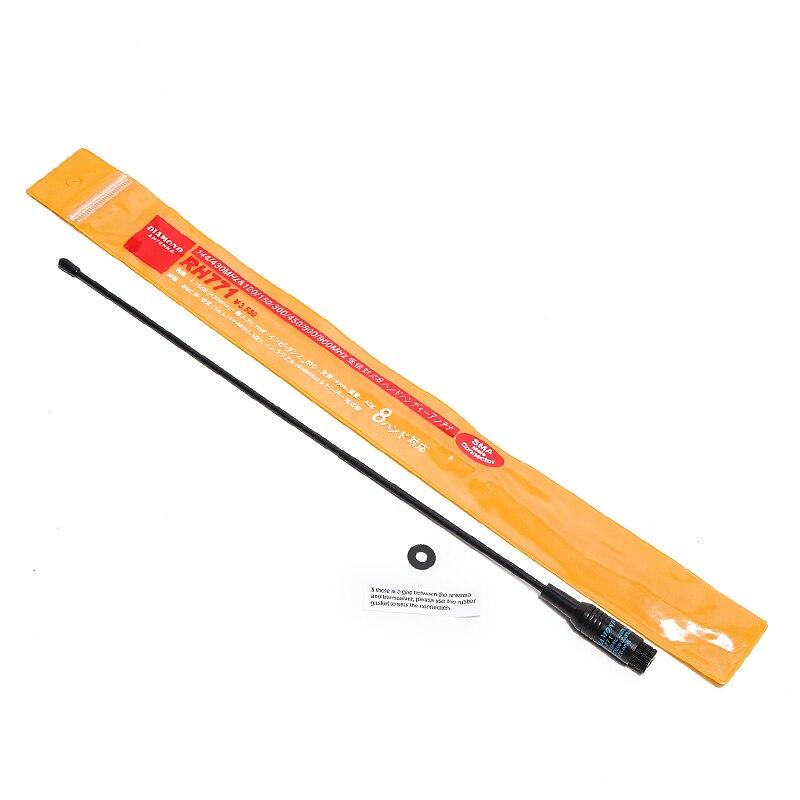 Diamond RH-771 SMA-M Male Dual Band Soft 144/430MHz Antenna for Baofeng Yaesu TYT TH-UV8000D/E Wouxun KG-UV8D/9D Walkie Talkie
